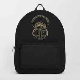 God Is Good All The Time - Retro graphic illustration - Beyond Vintage. Backpack