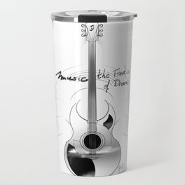 The acoustic guitar - Music, The Frontier of Dreams. Travel Mug
