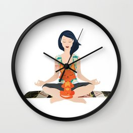Yoga partners Wall Clock