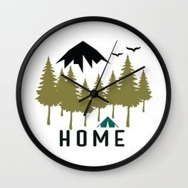 Wilderness Home Wall Clock