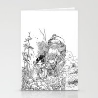 bouletcorp Stationery Cards featuring Promenade dans la montagne - Walking in the mountains by Bouletcorp