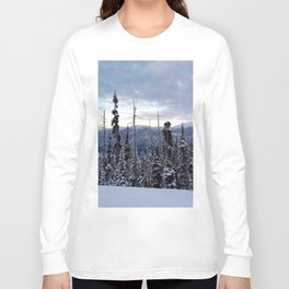 Snowy spruces frontier Long Sleeve T-shirt