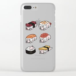Poodle Sushi Nigiri Clear iPhone Case