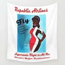 Miriyum of Republic Airlines Wall Tapestry