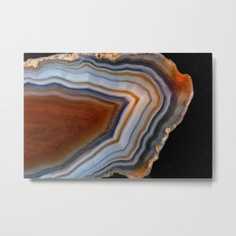 Layered agate geode 3163 Metal Print