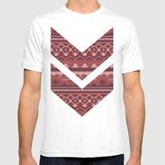 CRYSTAL AZTEC   White MEDIUM Mens Fitted Tee