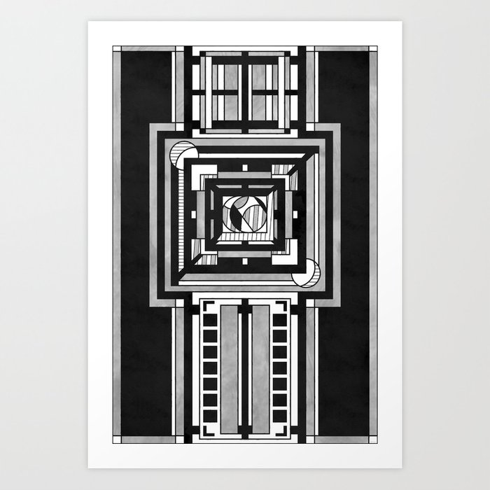 Tapestry - Art Deco Drawing Art Print