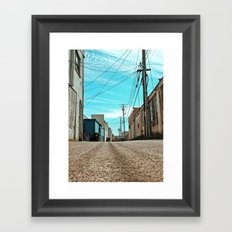 Alley architecture Framed Art Print
