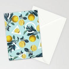 Geometric and Lemon pattern III Stationery Cards