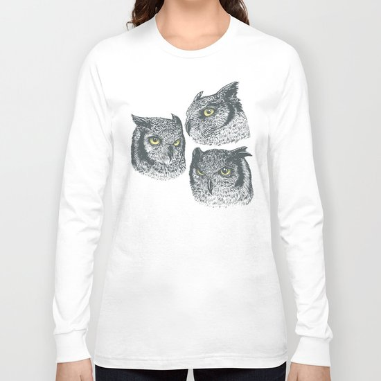 Three Owls Long Sleeve T-shirt
