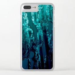 Jello-Blue Clear iPhone Case