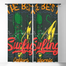The Best Surfing - California Blackout Curtain