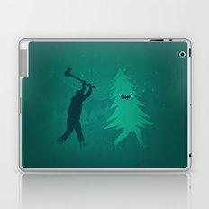 Funny Christmas Tree Hunted by lumberjack (Funny Humor) Laptop & iPad Skin