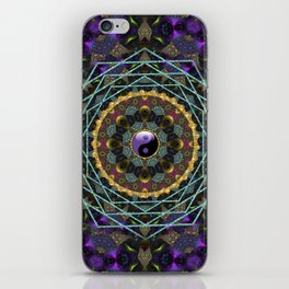 Purple Yin Yang Sacred Geometry Fractals iPhone Skin