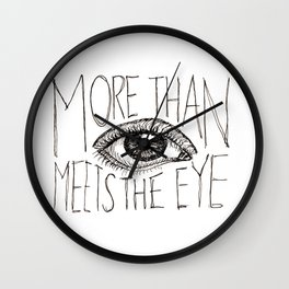 More than meets the eye Wall Clock