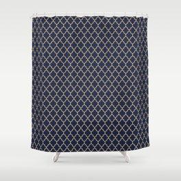 Minimalist Art Decó Geometric Oriental Lines Shower Curtain