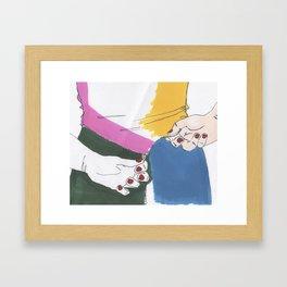 Tension - Backzip Framed Art Print