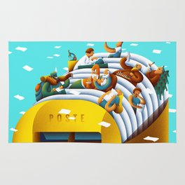 The mailbox Rug