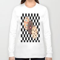 cookies Long Sleeve T-shirts featuring Eat Cookies by Sartoris ART