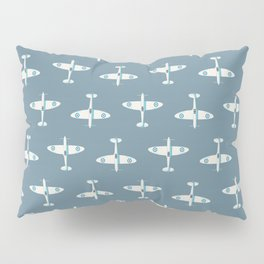 Supermarine Spitfire WWII fighter aircraft - Slate Pillow Sham