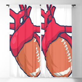 American football it's your heartbeat Blackout Curtain