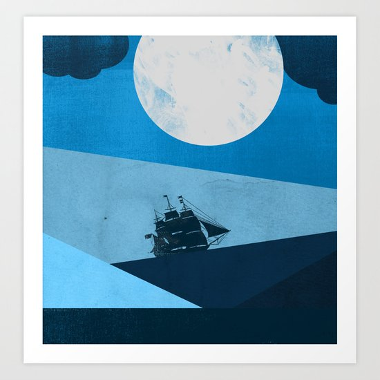 Solo Ocean Trip Art Print