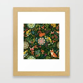 Treasures of the emerald woods Framed Art Print