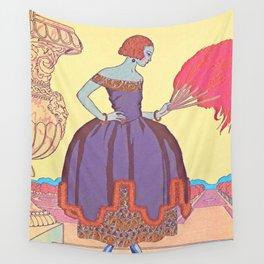 George Barbier Pavane 1921 Wall Tapestry