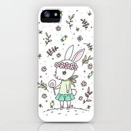 Summer Bunny iPhone Case