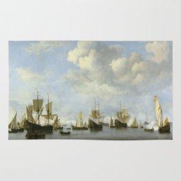Willem Van De Velde Ii - The Dutch Fleet In The Goeree Roads. Rug