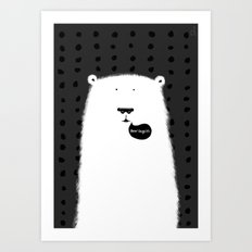 Bear Says Hi Art Print