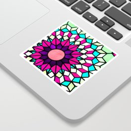 Stained Glass Pink Sticker