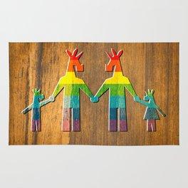 Unicorn Rainbow Family #3 Rug