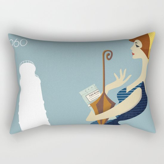 Italy 1960 Rectangular Pillow