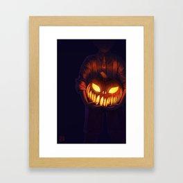 Jack'o'Lantern (#Drawlloween2016 Series) Framed Art Print