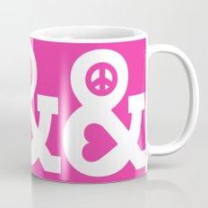 Peace and Love (pink edition) Mug