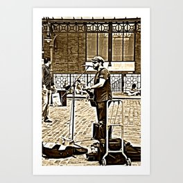 Covent Garden singer Art Print