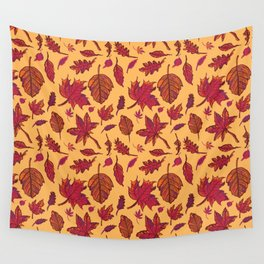 Autumn leaves Wall Tapestry