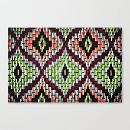 Bargello hourglass -  does anyone really know what time it is? Canvas Print