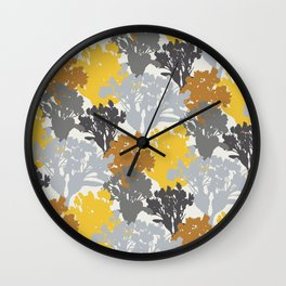 Acer Bouquets - Golds & Silvers Wall Clock