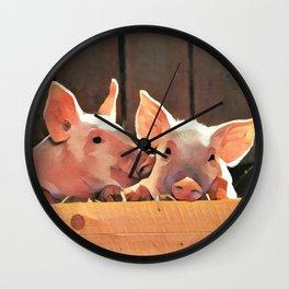Piggies Wall Clock