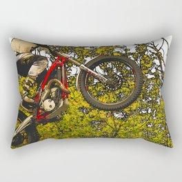 Airtime - Dirt-bike Racer Rectangular Pillow
