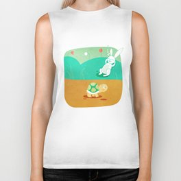 The Hare and the Tortoise Biker Tank