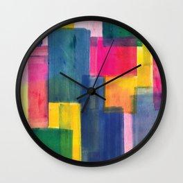 Color Block Series: Rooftops Wall Clock