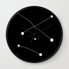 Inverted Abstract Print Wall Clock