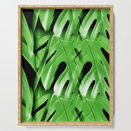 Blanket Of Cheese Plant Leaves Serving Tray