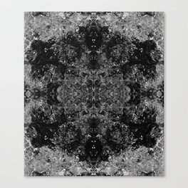 River Foam Snowflake Canvas Print
