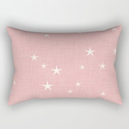 Pink star with fabric texture - narwhal collection Rectangular Pillow
