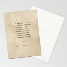 Ralph Waldo Emerson Quote 03 - Typewriter Quote On Old Paper - Literary Poster - Book Lover Gifts Stationery Cards