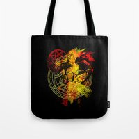 fullmetal Tote Bags featuring Alchemy by Coffeewatson